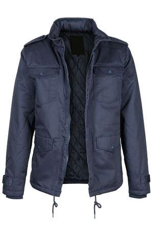 unzipped: Unzipped blue jacket