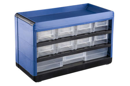 tool box: Blue tool box with drawers