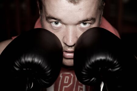 Young Adult Male Boxer photo