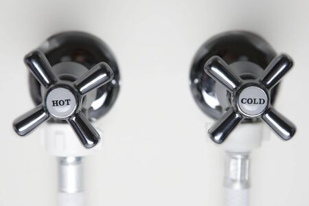 hot water tap: hot and cold