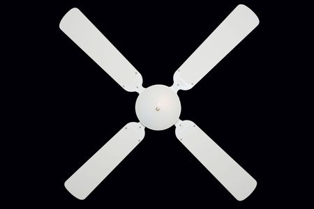 Ceiling fan isolated on black  photo