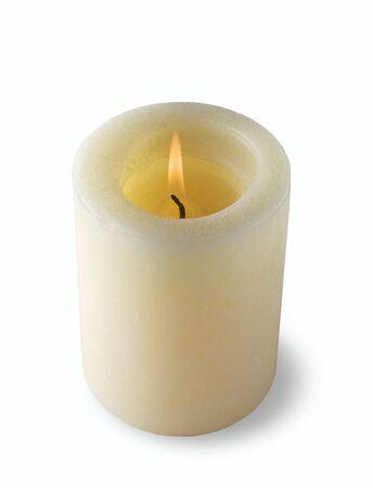 singular: Candle Over white