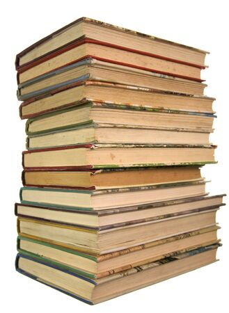 spines: Pile of books Stock Photo