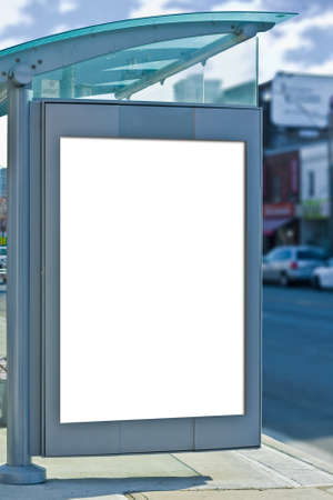 raod: busstop with copy space for advertisement