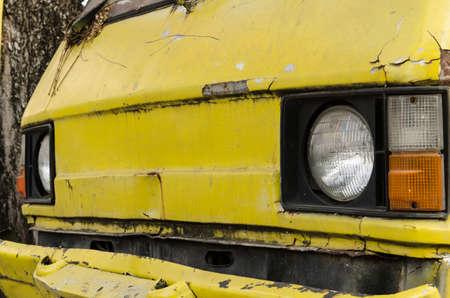 The old van car closeup photo