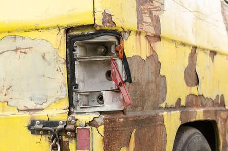 The old van car be crack photo