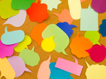 Colorful balloons and bubbles; you can write words on it. Banco de Imagens