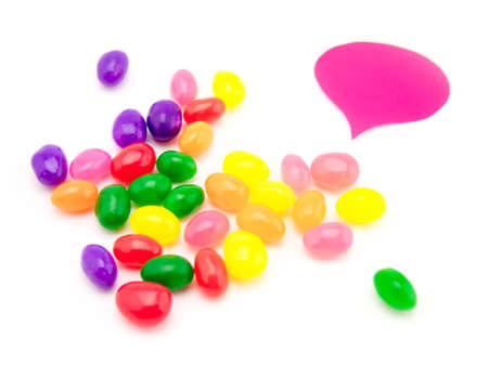 postit: Colorful balloons and bubbles with jelly beans; you can write words on it.