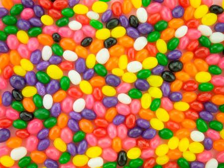 frijoles rojos: Marco y antecedentes de las habas de jalea coloridas. Foto de archivo