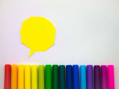 colorful: Colorful balloons and bubbles; you can write words on it. Stock Photo