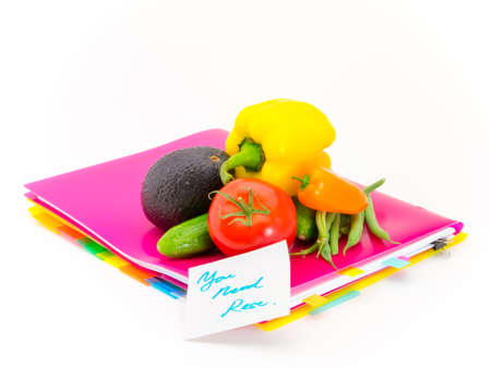 articles: Present of vegetables and messages for careing hard work.