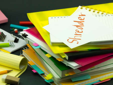 shredder: The Pile of Business Documents; Shredder