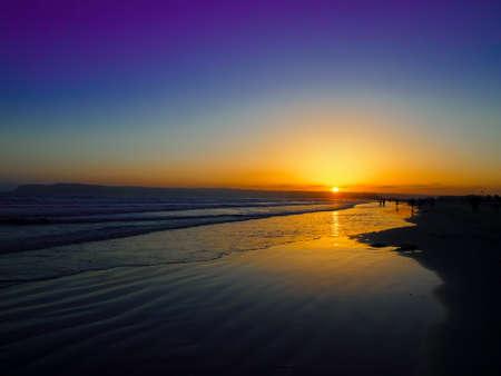 The Sun Set at the Coronado Beach in San Diego in June Reklamní fotografie