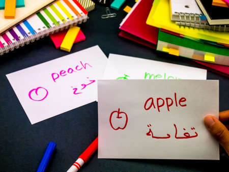 language: Learning New Language Making Original Flash Cards; Arabic