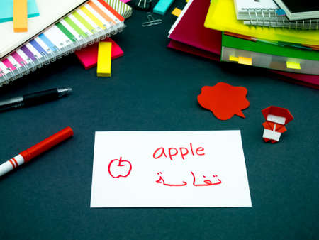 learning arabic: Learning New Language Making Original Flash Cards; Arabic