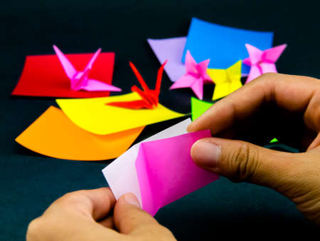 crane origami: Japanese Origami Toys Folding Instructions; How to Play
