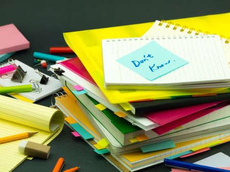 The Pile of Business Documents; Dont Know Reklamní fotografie