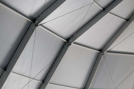 truss: The Ceiling of the Truss Structure at the Construction site