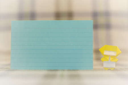 yellow notepad: Note Pad with Little Ninja Kids on the Fabric Stock Photo