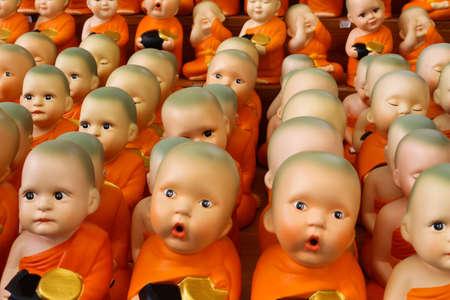 unruffled: monk doll Stock Photo