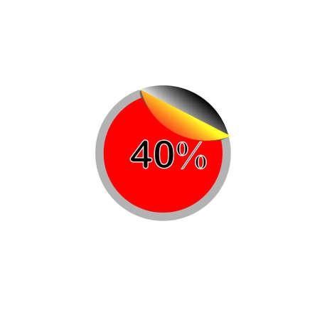 40: 40% Tag