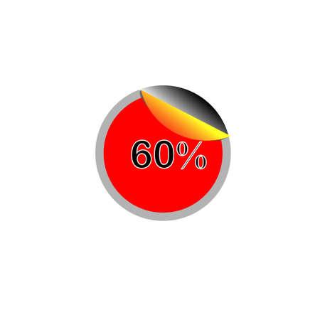 60: 60% Tag