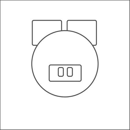 tenderly: Pig face icon thin line for web and mobile, modern minimalistic flat design. dark grey icon on light grey background