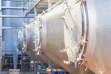 Wine making process, modern plant equipment photo