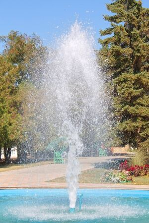 Close of a fountain in Temryuk, Russia Stock Photo - 10977777