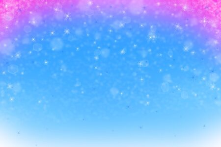 Blue and red abstract winter background with snowflakes Stock Photo - 11186666