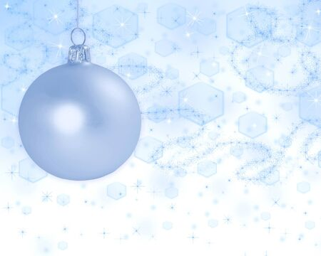 Christmas ball on beautiful abstract light  background  photo