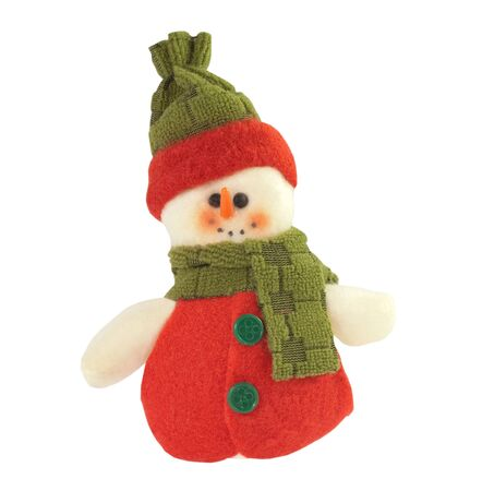 Cute Christmas snowman isolated on a white background  photo