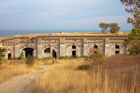 Old ammunition depot in ancient fortress in Kerch, Crimea, Ukraine photo