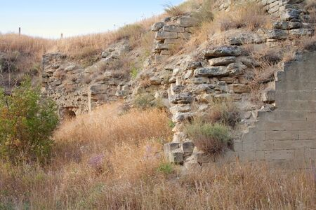 Ruins of the ancient fortress in Kerch, Crimea, Ukraine photo