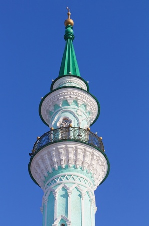 minar: Old Azimovskaya mosque with minaret in Kazan, Republic of Tatarstan, Russia