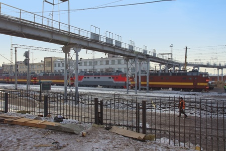 Central Railway station under reconstruction in Kazan city, Republic of Tatarstan, Russia
