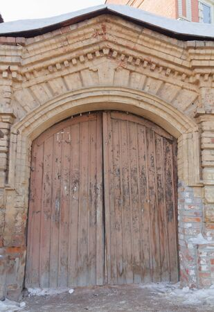 An old door in the center of the city, Kazan, Russia