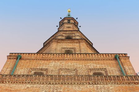 The Soyembika tower in the Kazan Kremlin, Tatarstan, Russia photo