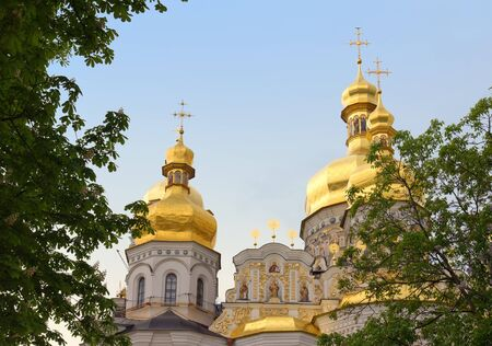 Fragment of Uspensky Cathedral in Kiev-Pechersk Lavra. Kyiv, Ukraine photo