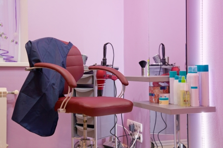 interior of luxury beauty salon - workplace hairdresser