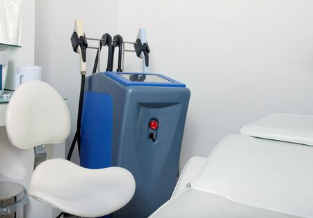 hair treatment: Interior and equipment in modern cosmetology clinic