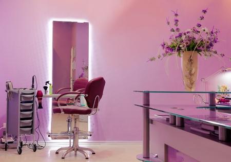 Professionale Hair Studio di lusso con attrezzature moderne Archivio Fotografico