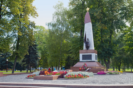 tomb of the unknown soldier: Soviet Memorial to honor the fallen Red Army soldiers during the Second World War at Grodno, Belarus