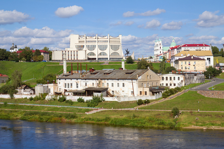 Panoramic view city and Neman river. Grodno, Belarus