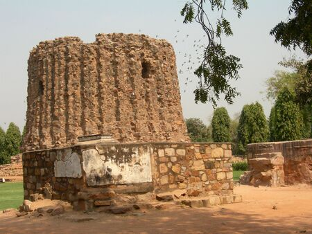 minar: Alai Minar in Delhi Stock Photo
