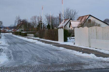Street in Frederikshavn in Denmark