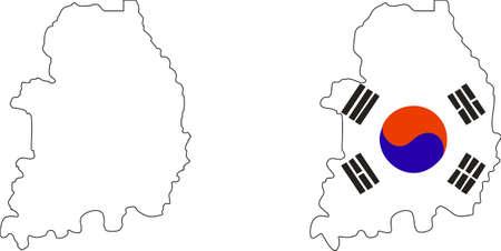 seoul: Drapeau de la Cor�e du Sud Illustration