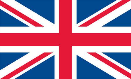 United kingdom flag, xxl size, true pantone colors converted to RGB Vector