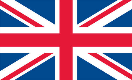 size: United kingdom flag, xxl size, true pantone colors converted to RGB Illustration