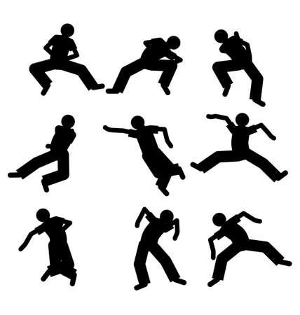danseres silhouet: dancer silhouet
